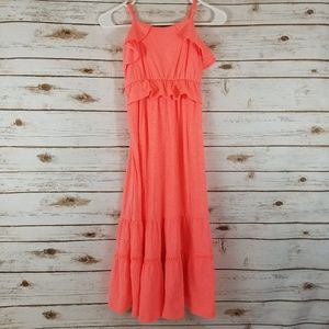 Medium cat jack neon coral maxi dress girls